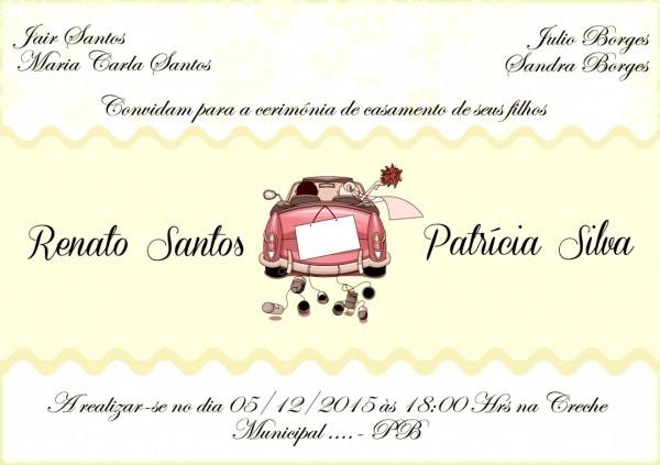 Galeria convite de casamento simples para editar montando