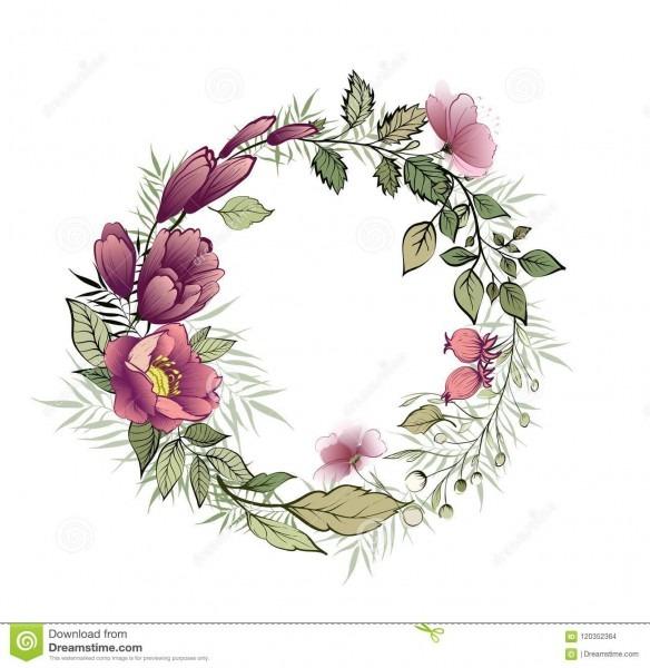 Grinalda floral bonita para seu texto convite do casamento