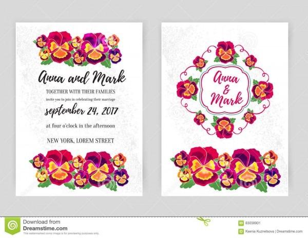 Grupo do vetor de convites florais do casamento projeto para o