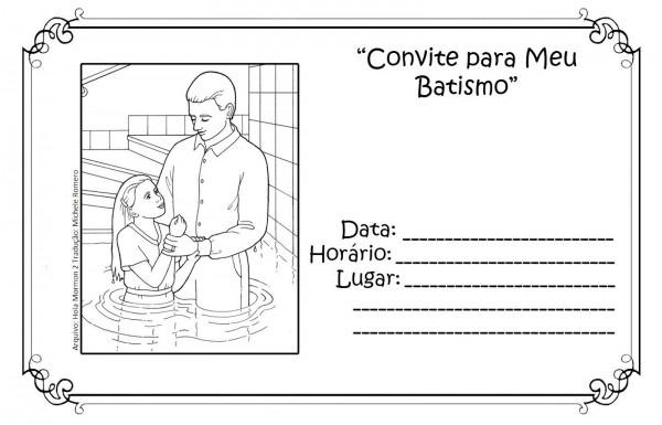 As tontas vão ao céu  convite para batismo