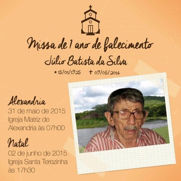 Barriguda news  alexandria rn  convite missa 01 ano de falecimento