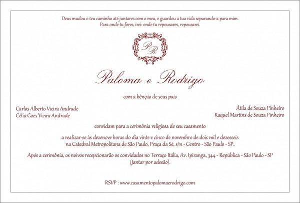 Impressionante de texto convite para casamento por ades o textos