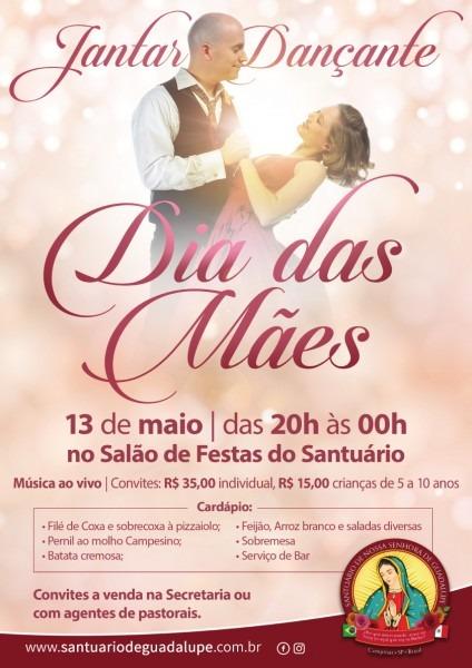 Jantar dançante dia das mães  convites à venda! « santuário nossa