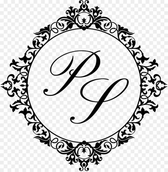 Marriage monogram engagement convite wedding invitation