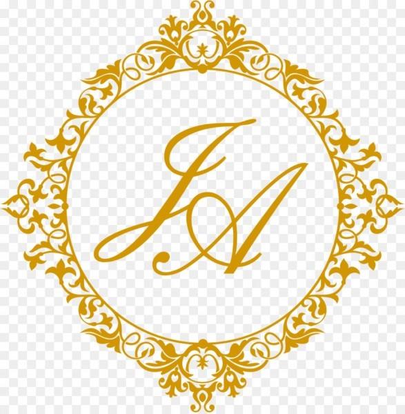 Marriage monogram rtc convites
