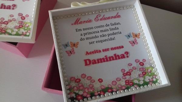 Kit com 5 caixas convite (daminha,florista e pajem)