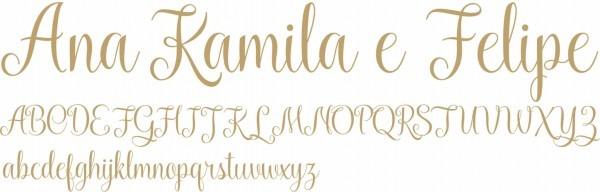 Letras para convites rústicos