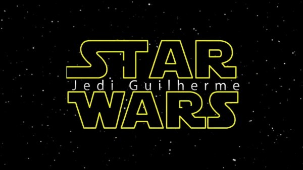 Convite animado star wars do guilherme