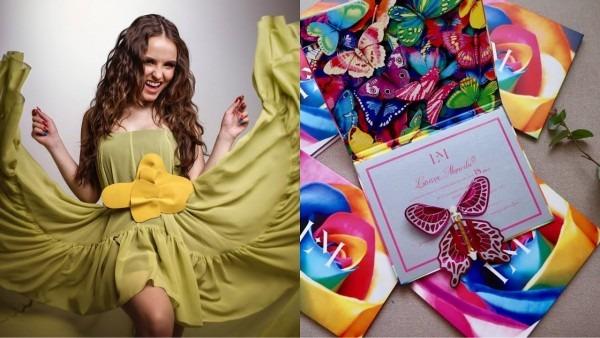 Larissa manoela entrega convites da festa de 18 anos + exposiÇÃo