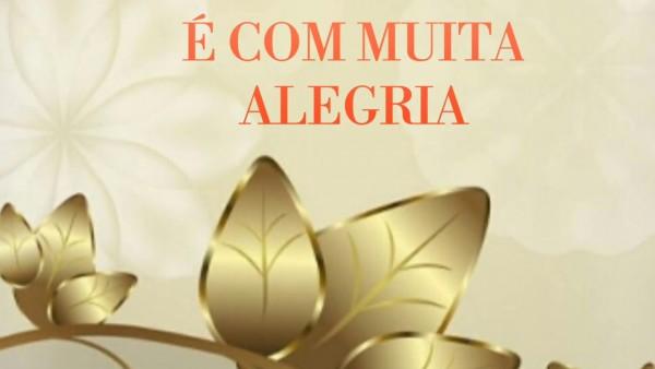 Convite animada primeira eucaristia pronto para baixar e editar