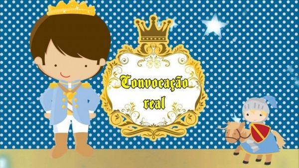 Convite virtual rei arthur realeza
