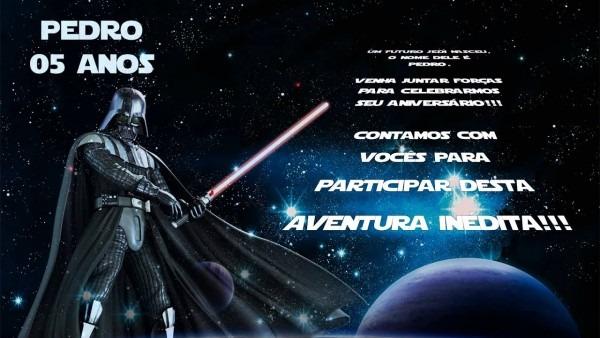 Convite animado star wars personalizado