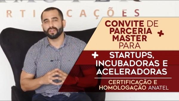 Convite de parceria master para startups, incubadoras e