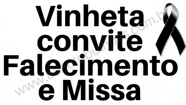 Vinheta para convite missa 7 dia de falecimento aniversario sétimo