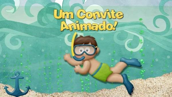 Convite animado fundo do mar (pietro 1 aninho)
