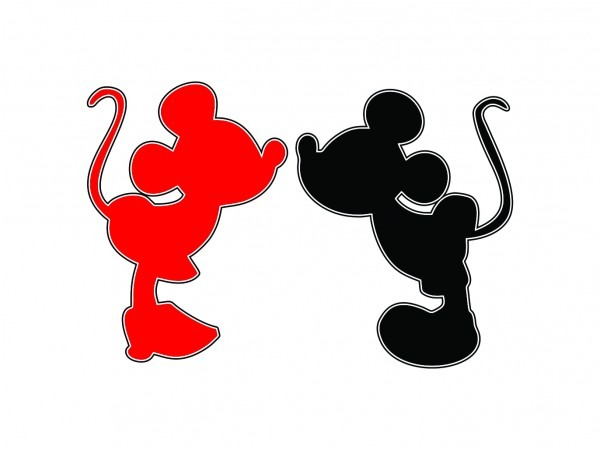 Mickey minnie vetor silhouette studio