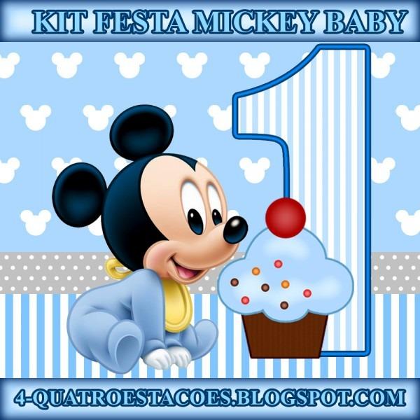 Convite Mickey Baby Para Imprimir Gratis