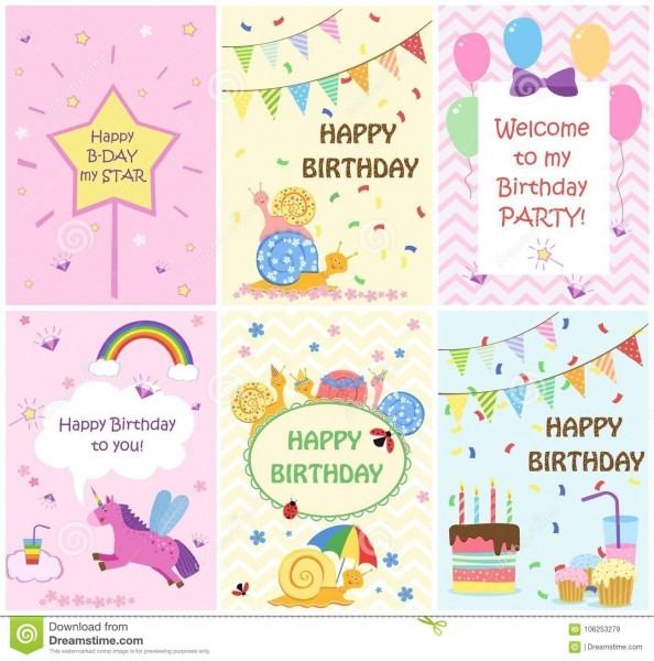 Moldes dos cartões do feliz aniversario e convites do partido para