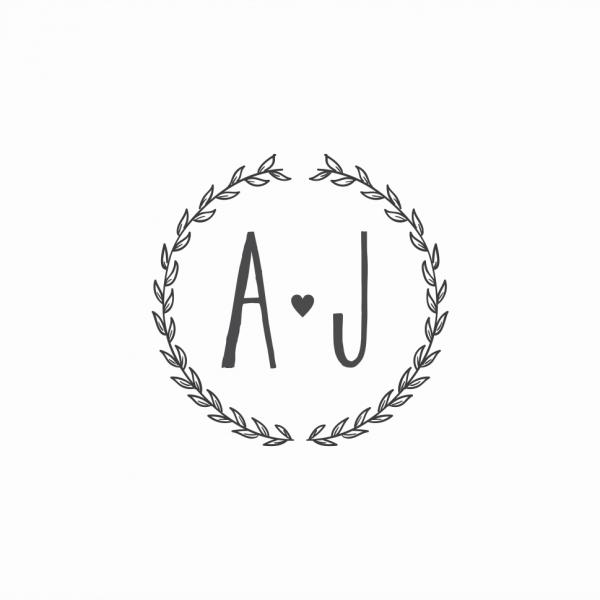 Monograma para casamento 13 – papel e letra convites de casamento