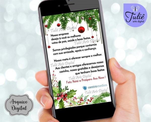 Cartão de natal digital whatsapp no elo7