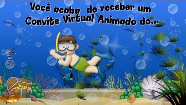 Projeto fundo do mar convite animado para proshow producer