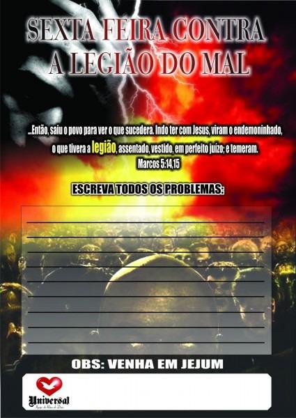 Sexta feira contra legião do mal