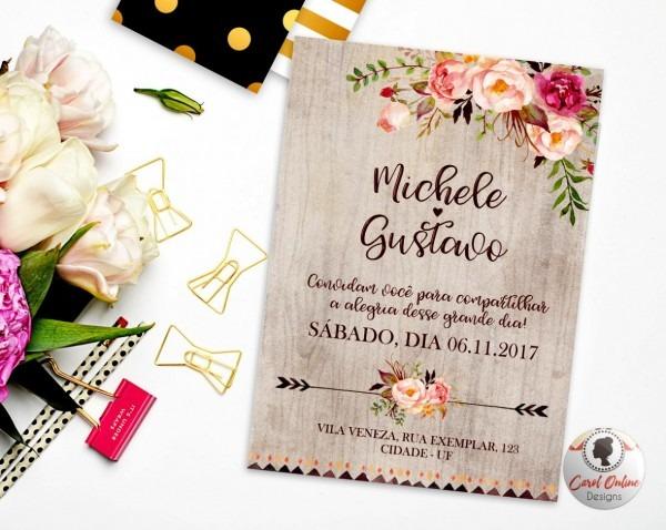 Site de convites online novo convite casamento arte digital no
