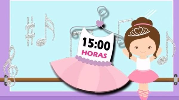 Vídeo convite virtual digital animado bailarina