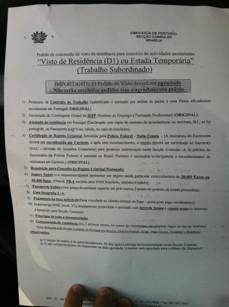 Goianos em portugal  visto de residência