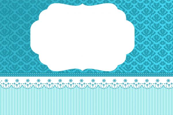 Montando minha festa  arabesco azul
