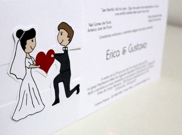 100 convite casamento encontro com brinde e fita