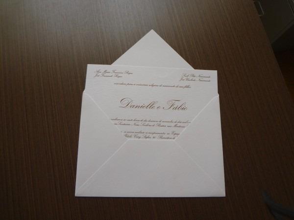 100 convites de casamento tradicional