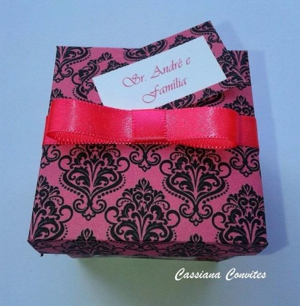 120 convites de 15 anos ou casamento rosa pink e preto