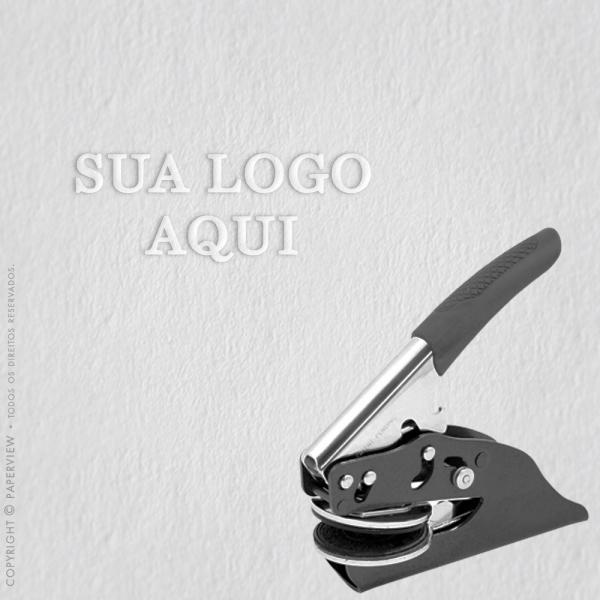 Chancela para relevo com a sua logo
