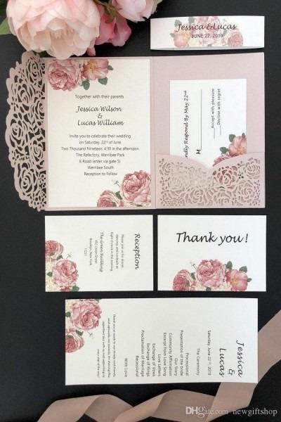 Programa para fazer convites de casamento 2019 light pink laser