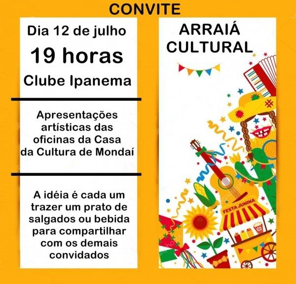 Casa da cultura organiza arraiá cultural