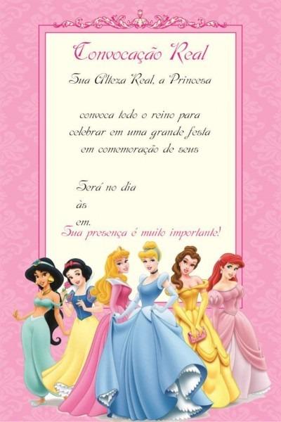 Convite princesas 4 – modelos de convite