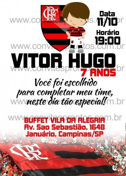 Convite de aniversÁrio infantil flamengo