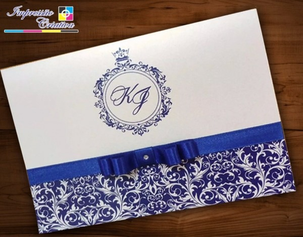 250 convites casamento + fita de cetim e laço chanel