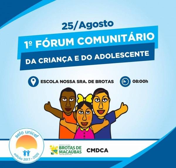 Convite – i fórum comunitário do selo unicef – 2017 2020