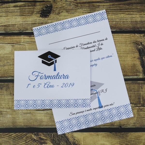 50 convites formatura barato arabesco personalizado simples