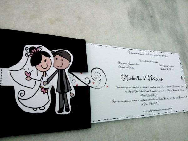 65 convite casamento encontro dos noivos noivinhos