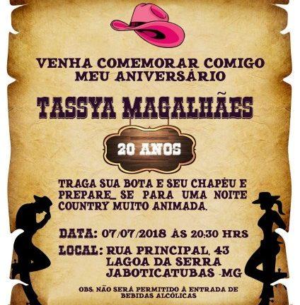 Convite de aniversario country