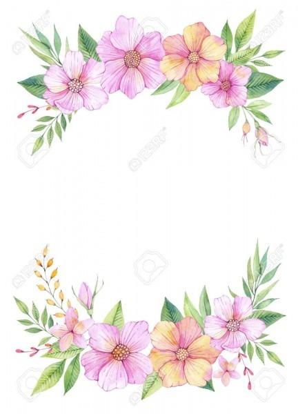Ilustração desenhada mão da aguarela  convite de casamento com