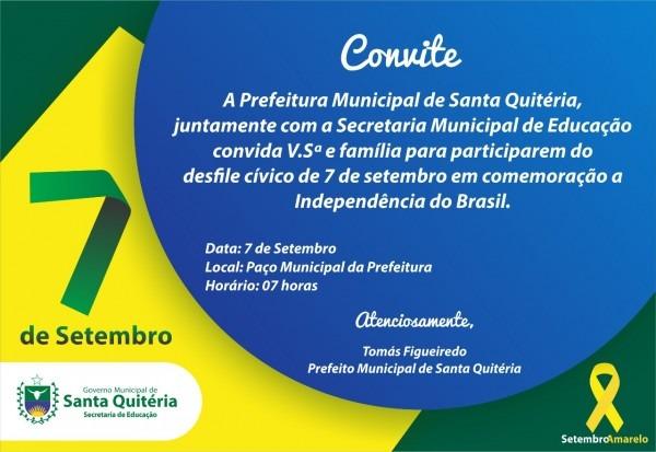 Convite – desfile 7 de setembro 2017 em santa quitéria ~ macaraú