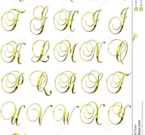Alfabeto de letras para convites
