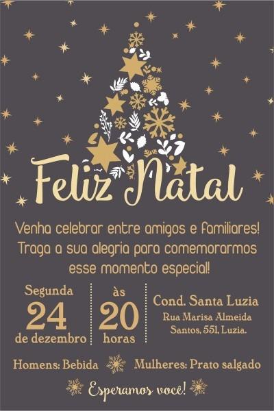 Arte convite digital festa de natal no elo7