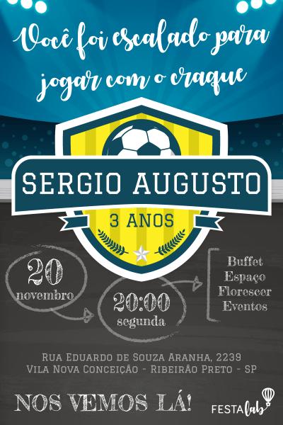 Faça seu convite futebol! com a festalab é fácil editar seu