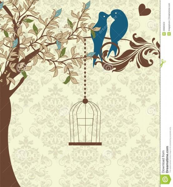 Cartão ou convite de casamento ilustração do vetor