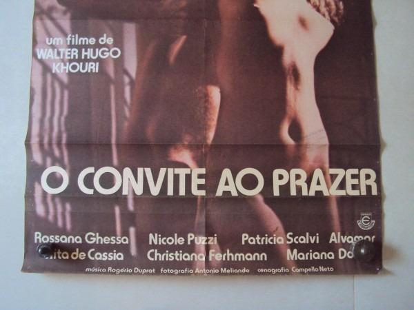 Cartaz original convite ao prazer sandra brea filme poster